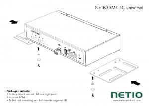 Konsoller för universal montering av Netio 4C
