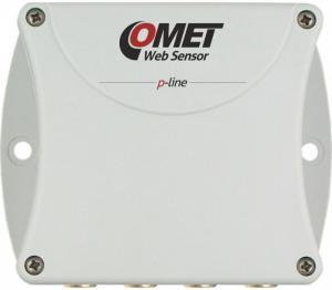 Termometer eller hygrometer för 4 externa givare med Ethernet interface - Websensor