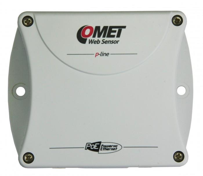 Termometer eller hygrometer för 4 externa givare med Ethernet interface PoE - Websensor