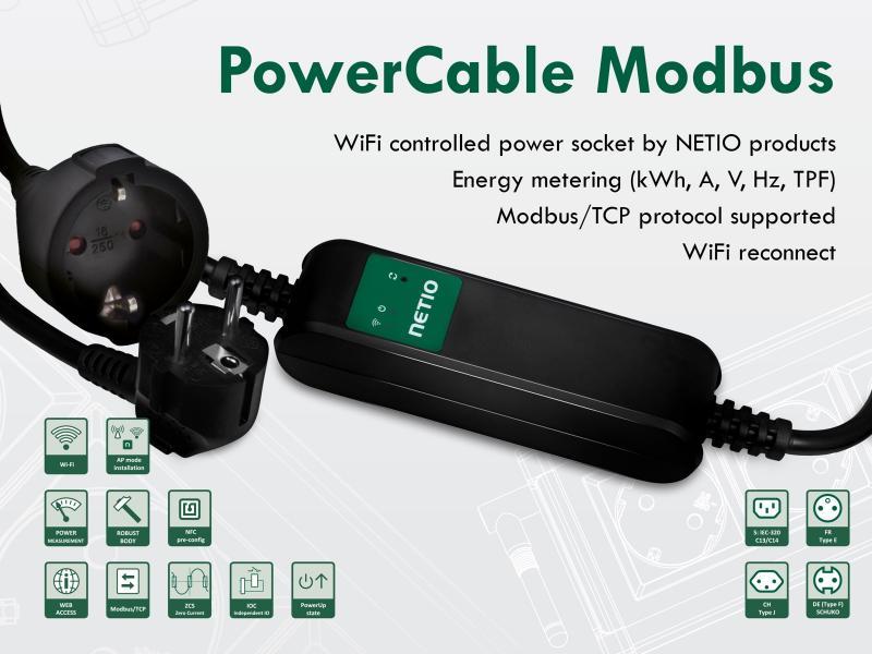 Smart skarvsladd med Wifi, strömmätning och Modbus