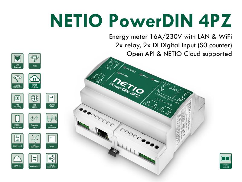 Elmätare och fjärrstyrning med LAN & WiFi - PowerDIN