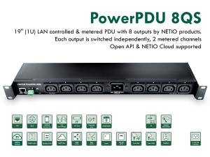 Smart PDU med 8 uttag, elmätning och M2M API