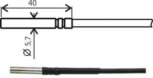 Temperaturgivare med kabel Pt1000 TG8