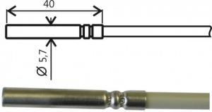 Temperaturgivare Pt1000 med kabel och ELKA-kontakt