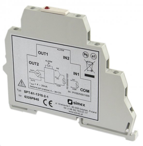 Signalomvandlare Pt100/500/1000 till 4-20 mA