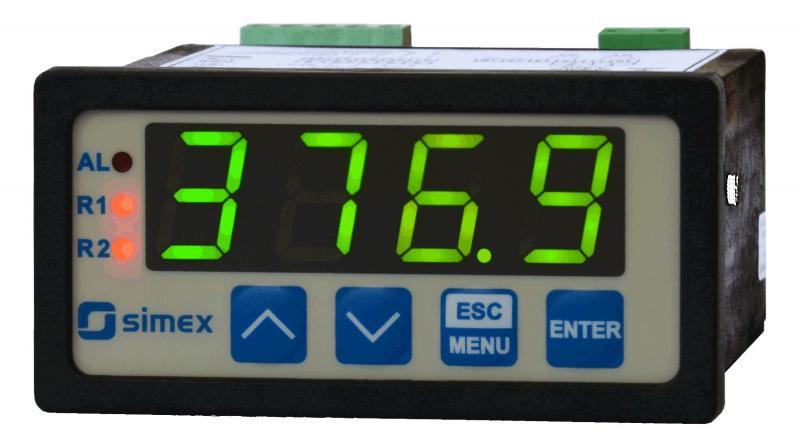 Display/regulator med analog ingång