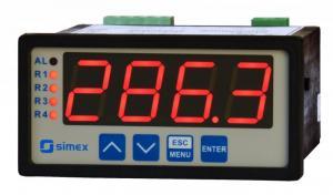 Display/regulator med analog in och 2 reläutgångar 20 mm tecken
