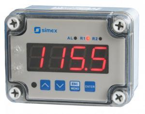 Väggdisplay/regulator för Pt100/Pt500/Pt1000