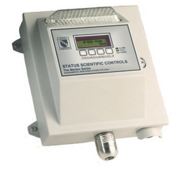 Komplett gaslarm för giftiga eller brännbara gaser med intern siren och blixtljus