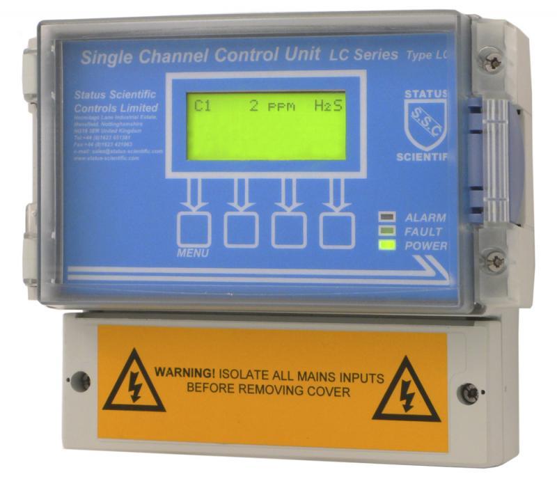 Gaslarmcentral för en gasdetektor/gastransmitter