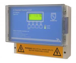 Gaslarmcentral för upp till två gasdetektorer/gastransmittrar