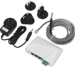 Temperatur & luftfuktighetsmätare för WiFi/LAN Set STE2 PoE