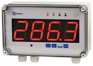 Väggdisplay/regulator med universalingång Simex SUR-457