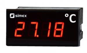 Display/indikator för temperaturgivare Pt100, Pt500 eller Pt1000 SWE-73-T