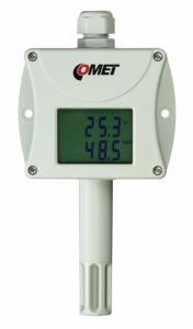 Temperatur- och luftfuktighetstransmitter med display 0-10V