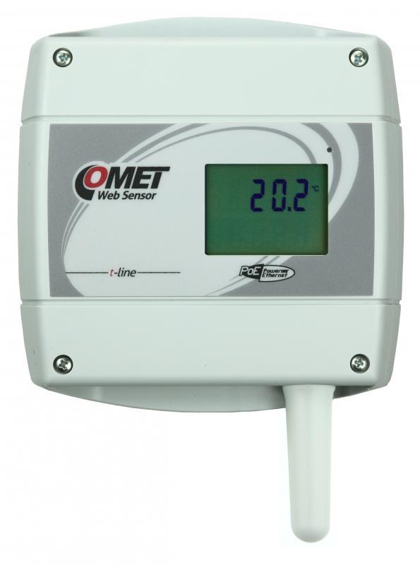 Termometer med display och Ethernet PoE - Websensor