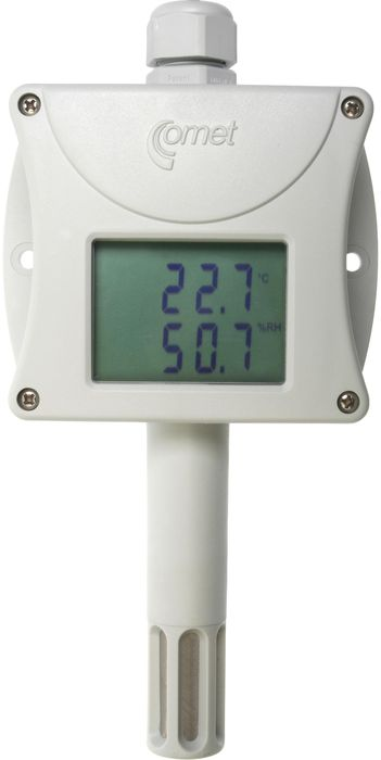 Temperatur- och luftfuktighetstransmitter med display 4-20 mA