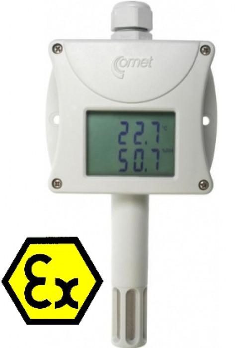 Temperatur- och luftfuktighetstransmitter Ex med display 4-20 mA