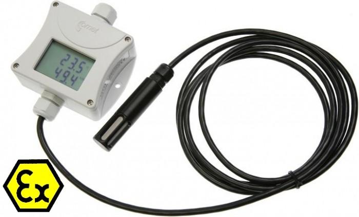 Temperatur- och luftfuktighetstransmitter Ex med extern givare och display 4-20 mA