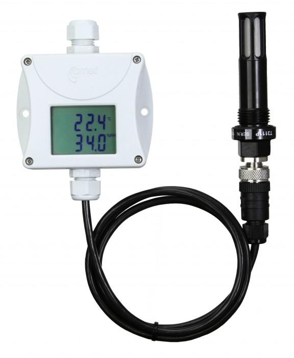 Daggpunktstransmitter för tryckluft med extern givare och display 4-20 mA