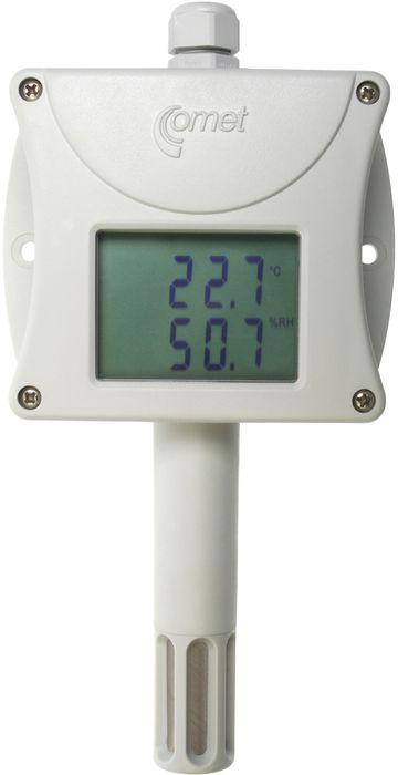 Temperatur- och luftfuktighetstransmitter med display RS232