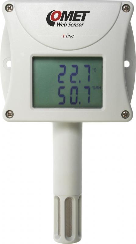 Temperatur- och luftfuktighetsmätare med display och Ethernet 2