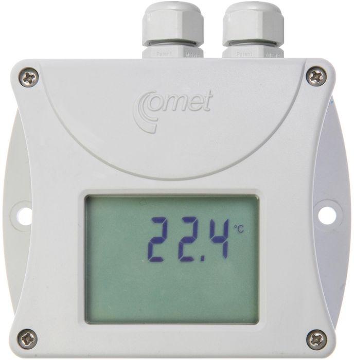 Temperaturtransmitter med display för Pt1000 RS232