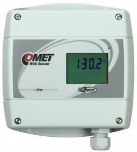 Termometer med display och Ethernet för extern Pt1000 - Websensor PoE