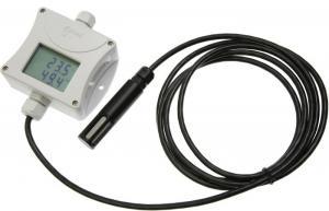 Barometertrycks-, temperatur- och luftfuktighetstransmitter med extern givare och display RS232
