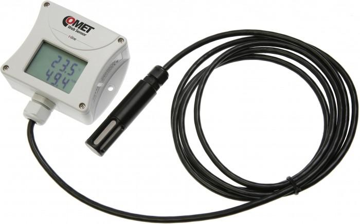 Barometertrycks-, temperatur- och luftfuktighetsmätare med extern givare och Ethernet
