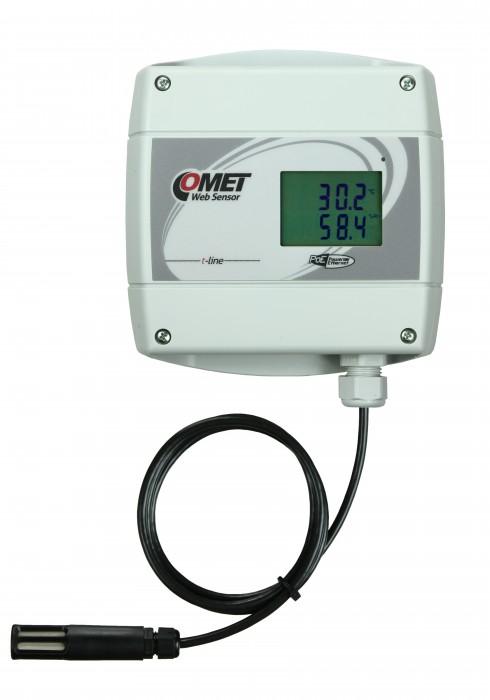 Barometertrycks-, temperatur- och luftfuktighetsmätare med extern givare och Ethernet PoE