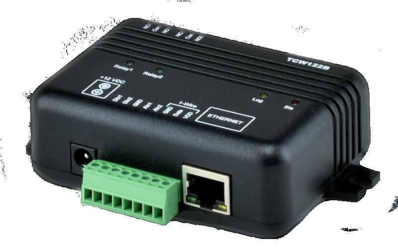 Nätverksstyrning/Ethernet controller med relästyrning punkt till punkt TCW122-RR