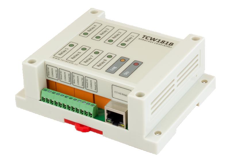 Nätverksstyrning/Ethernet controller 8 x relä ut TCW181B
