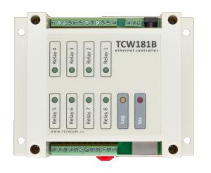Ethernet controller med 1 Din och 8 Relä ut