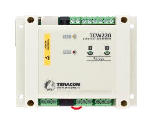 Ethernet datalogger/controller - 2xDin, 2xAin, 2xrelä ut, 8x1-wire