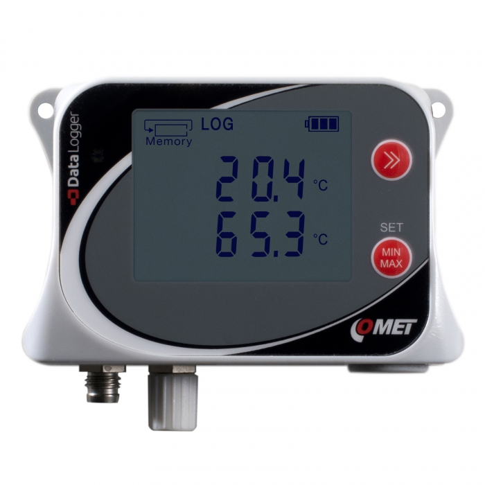 Temperaturlogger för två givare typ Pt1000