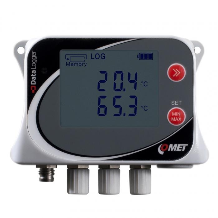 Datalogger för fyra externa temperaturgivare Pt1000