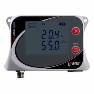 Temperatur- & luftfuktighetslogger för extern givare