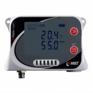 Temperatur- & luftfuktighetslogger med intern givare & ingång för ext. Pt1000
