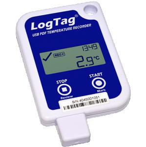 Temperaturlogger med display, USB & PDF-rapport -30..+60°C