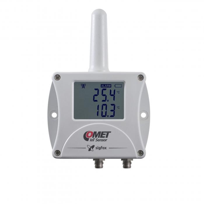 Trådlös IoT-termometer - en intern & för två externa givare Sigfox