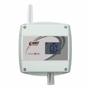 Trådlös IoT temperatur & CO2-mätare