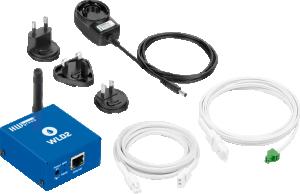 Vattenläckagelarm med WiFi och PoE 4 kanaler WLD2 PoE SET