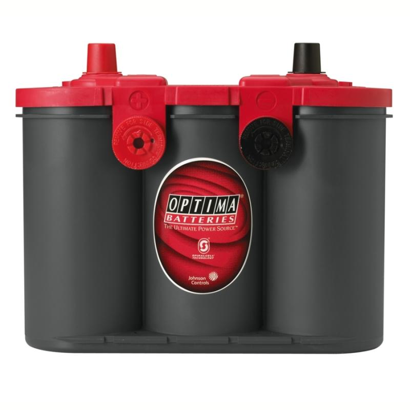 OPTIMA - startbatteri 12V 50Ah Red Top U4,2L 8004-250 LxBxH:254x175x200mm