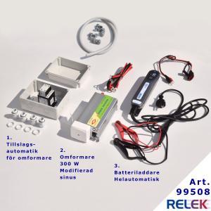 Nödströmsanläggning ett komplett nödströmspaket som ger 300watt och modifierad sinusvåg för nödström och kompletterande eldrift