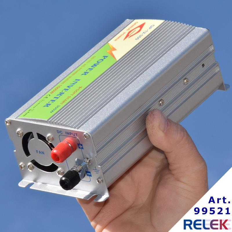 Omformare och spänningsomvandlare 300watt som omvandlar 12volt till 230volt modifierad sinusvåg