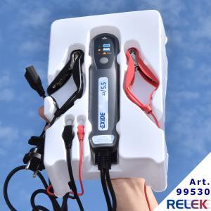 helautomatisk batteriladdare med elektronisk styrning för många olika 12voltsbatterier
