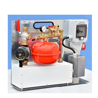 RELEK har utvecklat flera modeller av elpanna som är flyttbara och tar liten plats och används i olika vattenburna värmesystem.