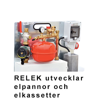RELEK har utvecklat och säljer många olika elpannor och elkassetter för uppvärmning av vatten, sedan över 35 år, till kunder i Sverige och Skandinavien