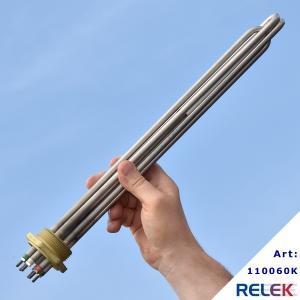 elpatronelement för vattenuppvärmning med R40gänga som kan kopplas in i olika effektsteg